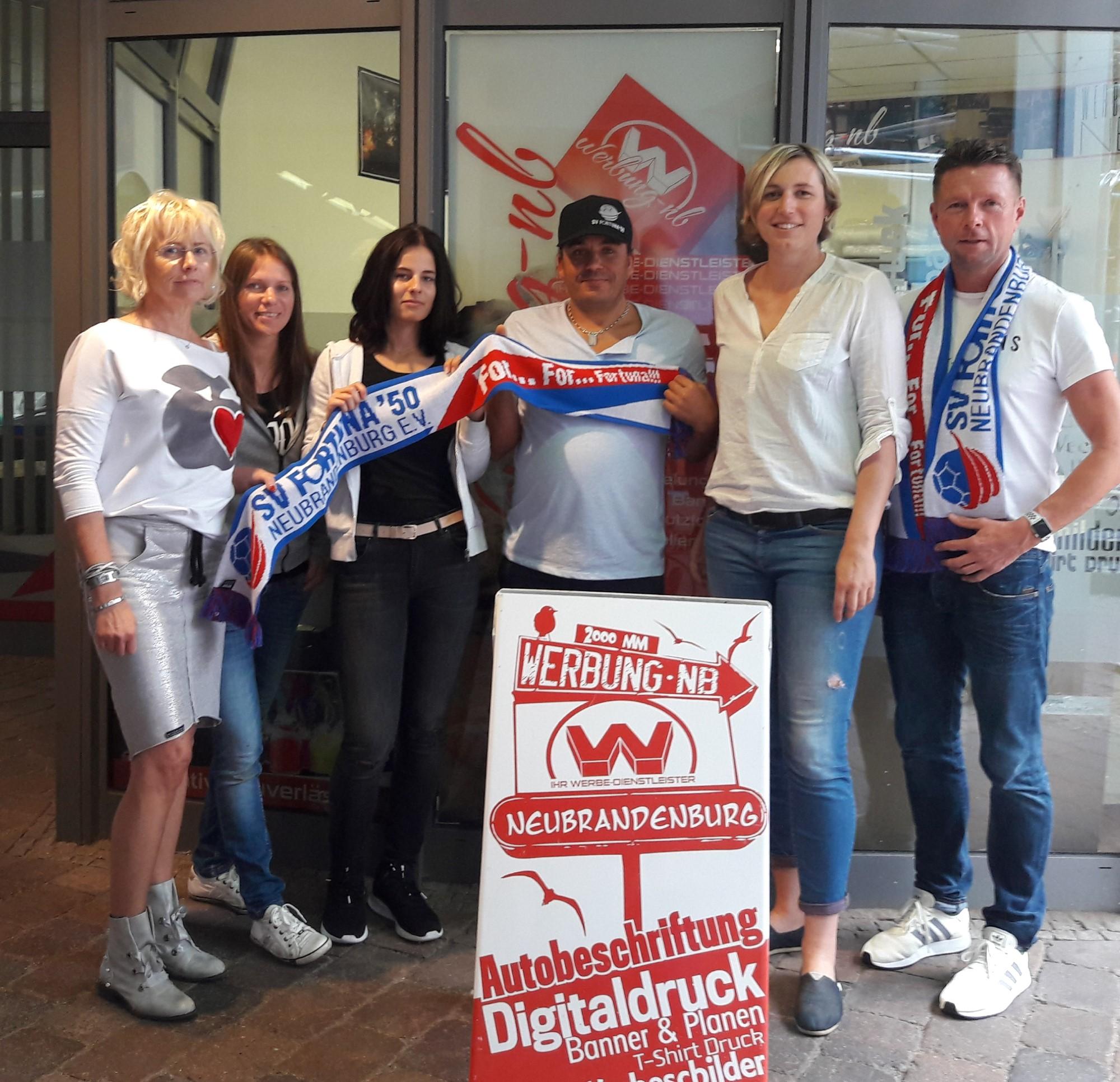 werbung-nb bleibt Sponsor - SV Fortuna ´50 Neubrandenburg